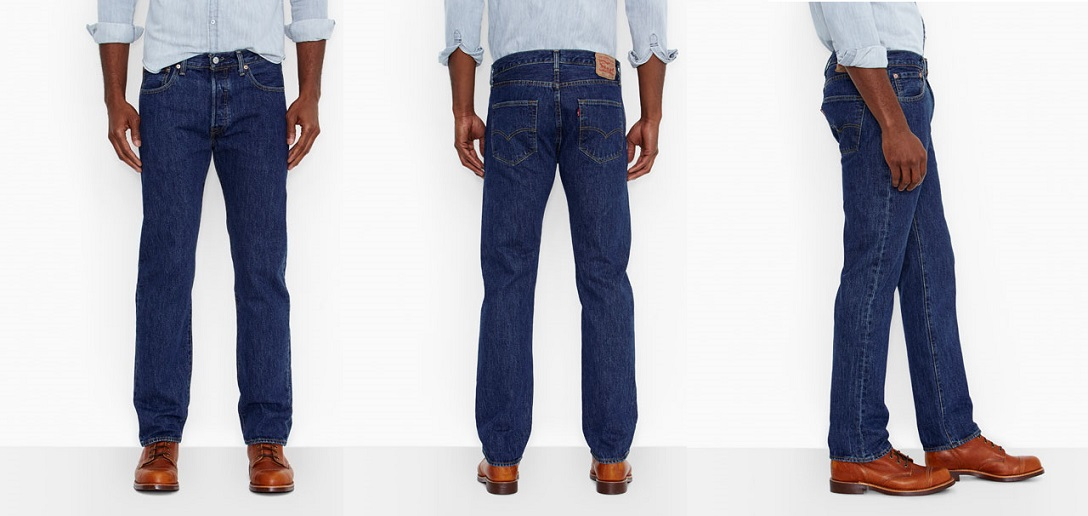 straight fit front-Levis