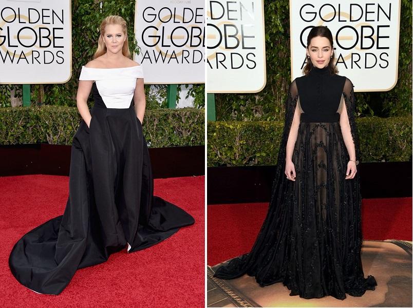 Amy-Schumer și Emilia Clarke_Golden Globes 2016