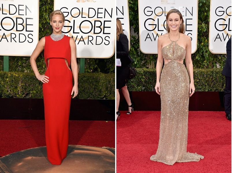 Jennifer-Lawrence și Brie Larson_Golden Globes 2016