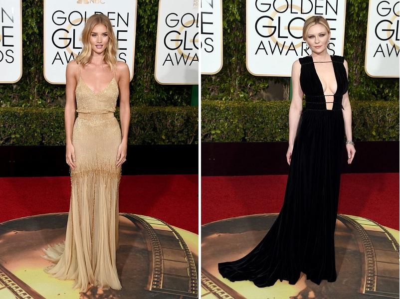 Rosie-Huntington-și Kirsten Dunst_Golden Globes 2016