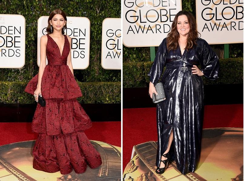 Zendaya și Melissa-McCarthy_Golden Globes 2016